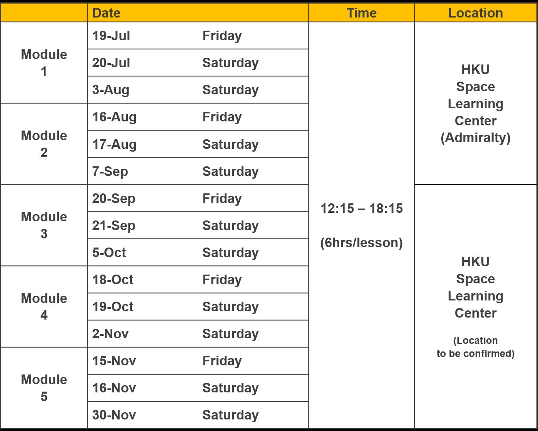 Pgc-Schedule